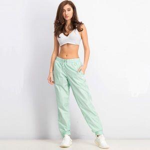 PUMA Women's Track Pants Mist Green Size XL